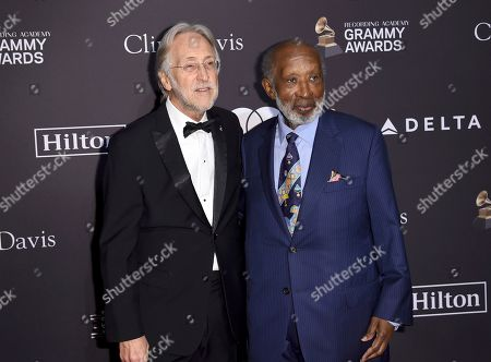 Neil Portnow, Clarence Avant. Neil Portnow, President of The Recording Academy, left, and Clarence Avant arrive at the Pre-Grammy Gala And Salute To Industry Icons at the Beverly Hilton Hotel, in Beverly Hills, Calif