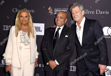 Suzanne de Passe, Berry Gordy, David Foster. Suzanne de Passe, from left, Berry Gordy, and David Foster arrive at the Pre-Grammy Gala And Salute To Industry Icons at the Beverly Hilton Hotel, in Beverly Hills, Calif