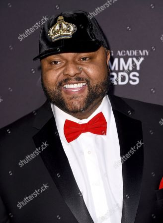 Stock Image of Damon Elliott arrives at the Pre-Grammy Gala And Salute To Industry Icons at the Beverly Hilton Hotel, in Beverly Hills, Calif