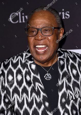 Sam Moore arrives at the Pre-Grammy Gala And Salute To Industry Icons at the Beverly Hilton Hotel, in Beverly Hills, Calif
