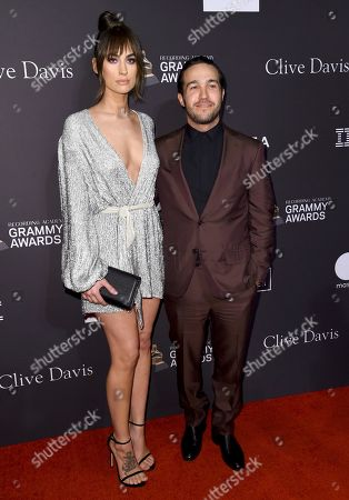 Pete Wentz, Meagan Camper. Pete Wentz, right, and Meagan Camper arrive at the Pre-Grammy Gala And Salute To Industry Icons at the Beverly Hilton Hotel, in Beverly Hills, Calif