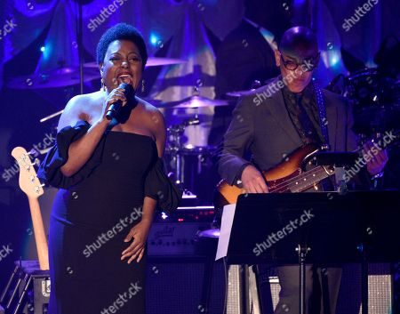 Ledisi performs at the Pre-Grammy Gala And Salute To Industry Icons at the Beverly Hilton Hotel, in Beverly Hills, Calif