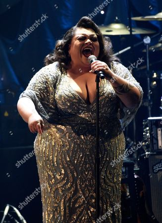 Keala Settle performs at the Pre-Grammy Gala And Salute To Industry Icons at the Beverly Hilton Hotel, in Beverly Hills, Calif