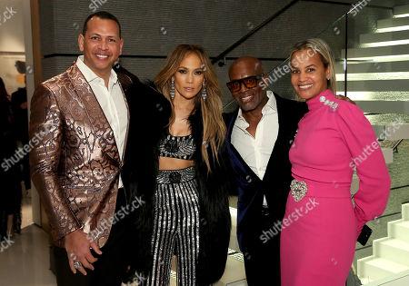 Alex Rodriguez, Jennifer Lopez, L.A. Reid, Erica Reid