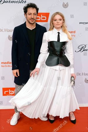 German actor of Turkish descent Fahri Yardim (L) and German-Romanian actress Maria-Victoria Dragus arrive on the red carpet of the reception of the Medienboard Berlin-Brandenburg (MBB) during the 69th annual Berlin Film Festival, in Berlin, Germany, 09 February 2019 (issued 10 February 2019). The Berlinale runs from 07 to 17 February 2019.