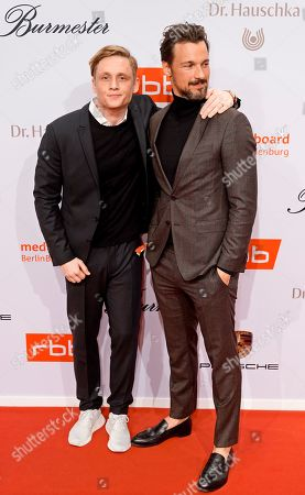 Matthias Schweighoefer (L) and Florian David Fitz arrive on the red carpet of the reception of the Medienboard Berlin-Brandenburg (MBB) during the 69th annual Berlin Film Festival, in Berlin, Germany, 09 February 2019 (issued 10 February 2019). The Berlinale runs from 07 to 17 February 2019.