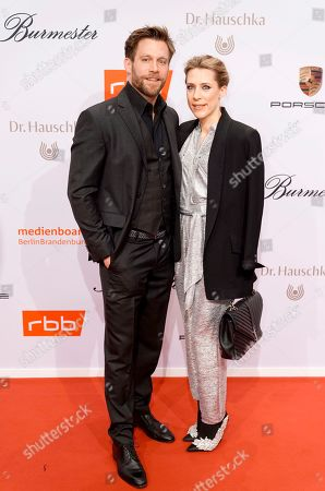 Stock Picture of German actor Ken Duken (L) and his spouse, German actress Marisa Leonie Bach arrive on the red carpet of the reception of the Medienboard Berlin-Brandenburg (MBB) during the 69th annual Berlin Film Festival, in Berlin, Germany, 09 February 2019 (issued 10 February 2019). The Berlinale runs from 07 to 17 February 2019.