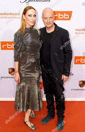 Andrea Sawatzki (L) and Christian Berkel arrives on the red carpet of the reception of the Medienboard Berlin-Brandenburg (MBB) during the 69th annual Berlin Film Festival, in Berlin, Germany, 09 February 2019 (issued 10 February 2019). The Berlinale runs from 07 to 17 February 2019.