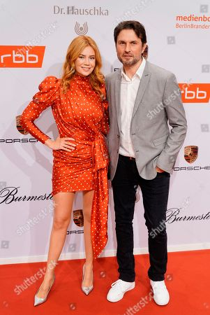 German-Russian TV presenter and actress Palina Rojinski (L) and German director Simon Verhoeven arrive on the red carpet of the reception of the Medienboard Berlin-Brandenburg (MBB) during the 69th annual Berlin Film Festival, in Berlin, Germany, 09 February 2019 (issued 10 February 2019). The Berlinale runs from 07 to 17 February 2019.