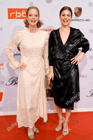 German actresses Leonie Benesch (L) and Aylin Tezel arrive on the red carpet of the reception of the Medienboard Berlin-Brandenburg (MBB) during the 69th annual Berlin Film Festival, in Berlin, Germany, 09 February 2019 (issued 10 February 2019). The Berlinale runs from 07 to 17 February 2019.