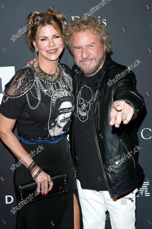 Kari Hagar (L) and Sammy Hagar arriving for The Recording Academy and Clive Davis' 2019 Pre-GRAMMY Gala at The Beverly Hilton Hotel in Beverly Hills, California, USA, 09 February 2019.