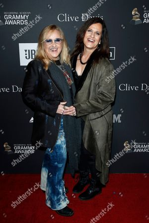 Melissa Etheridge (L) and Linda Wallem arriving for The Recording Academy and Clive Davis' 2019 Pre-GRAMMY Gala at The Beverly Hilton Hotel in Beverly Hills, California, USA 09 February 2019.