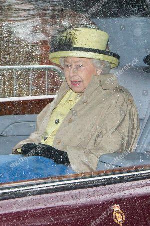 Queen Elizabeth II attends church, Sandringham