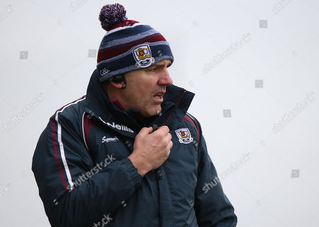 Monaghan vs Galway. Galway manager Kevin Walsh