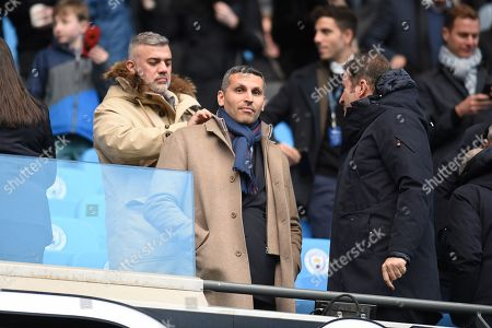 Khaldoon Al Mubarak Chairman of Manchester City takes his seat.