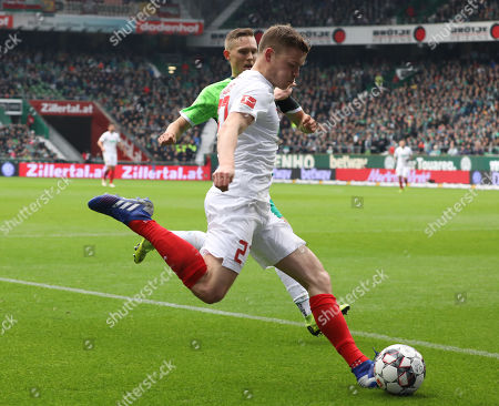 Augsburg's Alfred Finnbogason  during the German Bundesliga soccer match between Werder Bremen and FC Augsburg  in Bremen, Germany, 10 February 2019.