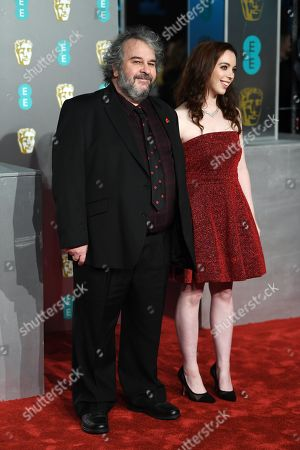 Peter Jackson and his daughter Katie Jackson attend the 72nd annual British Academy Film Awards at the Royal Albert Hall in London, Britain, 10 February 2019. The ceremony is hosted by the British Academy of Film and Television Arts (BAFTA).