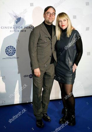 Jan Josef Liefers and Anna Loos attend the Cinema For Peace event during the 69th annual Berlin Film Festival, in Berlin, Germany, 10 February 2019. Berlinale runs from 07 to 17 February.
