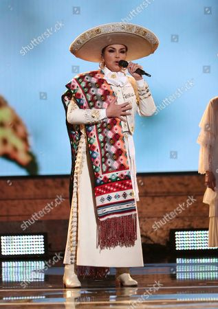 "Aida Cuevas performs ""La Llorona"" at the 61st annual Grammy Awards, in Los Angeles"