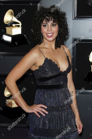 Puerto Rican singer Raquel Sofia arrives for the 61st annual Grammy Awards ceremony at the Staples Center in Los Angeles, California, USA, 10 February 2019.