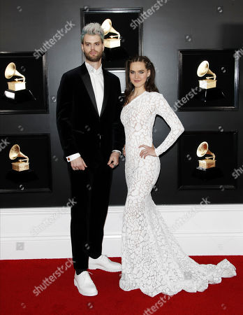 Sophie Hawley-Weld and Tucker Halpern arrive for the 61st annual Grammy Awards ceremony at the Staples Center in Los Angeles, California, USA, 10 February 2019.