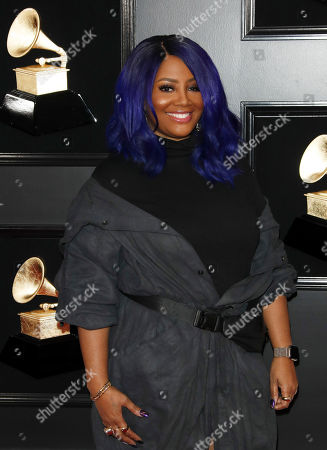 Lalah Hathaway arrives for the 61st annual Grammy Awards ceremony at the Staples Center in Los Angeles, California, USA, 10 February 2019.