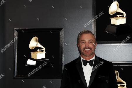 John Feldmann arrives for the 61st annual Grammy Awards ceremony at the Staples Center in Los Angeles, California, USA, 10 February 2019.