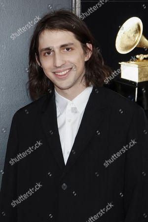 US DJ Porter Robinson arrives for the 61st annual Grammy Awards ceremony at the Staples Center in Los Angeles, California, USA, 10 February 2019.