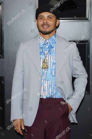 Walshy Fire of Major Lazer arrives for the 61st annual Grammy Awards ceremony at the Staples Center in Los Angeles, California, USA, 10 February 2019.