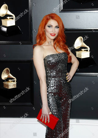 Bonnie McKee arrives for the 61st annual Grammy Awards ceremony at the Staples Center in Los Angeles, California, USA, 10 February 2019.