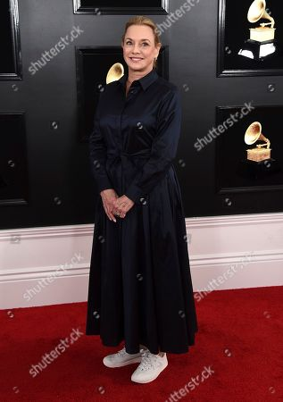 Lili Fini Zanuck arrives at the 61st annual Grammy Awards at the Staples Center, in Los Angeles
