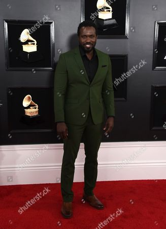 Stock Image of Joshua Henry arrives at the 61st annual Grammy Awards at the Staples Center, in Los Angeles