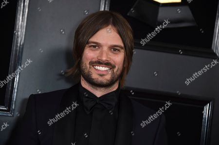 Alan Hicks arrives at the 61st annual Grammy Awards at the Staples Center, in Los Angeles