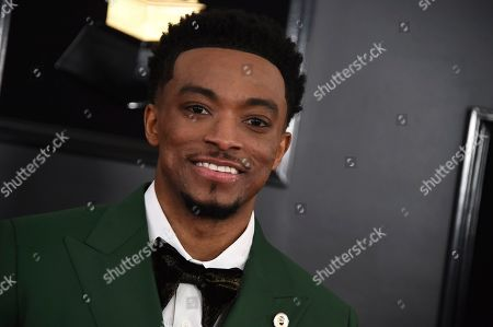 Jonathan McReynolds arrives at the 61st annual Grammy Awards at the Staples Center, in Los Angeles