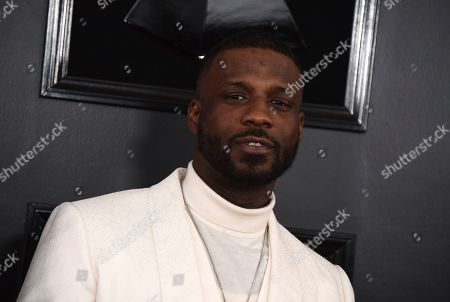 Jay Rock arrives at the 61st annual Grammy Awards at the Staples Center, in Los Angeles