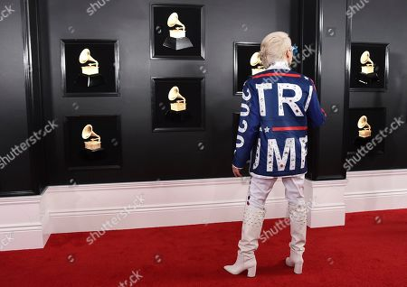 Ricky Rebel arrives at the 61st annual Grammy Awards at the Staples Center, in Los Angeles