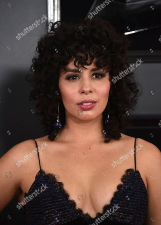 Stock Picture of Raquel Sofia arrives at the 61st annual Grammy Awards at the Staples Center, in Los Angeles