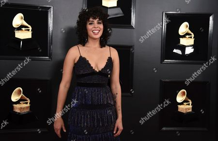 Stock Photo of Raquel Sofia arrives at the 61st annual Grammy Awards at the Staples Center, in Los Angeles