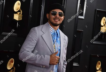 Walshy Fire arrives at the 61st annual Grammy Awards at the Staples Center, in Los Angeles