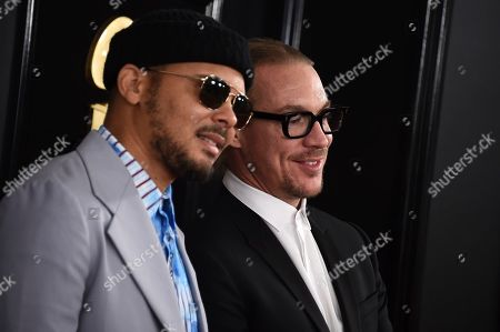 Walshy Fire, Diplo. Walshy Fire, left, and Diplo arrive at the 61st annual Grammy Awards at the Staples Center, in Los Angeles