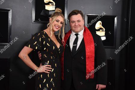 Missy Wallfisch, Benjamin Wallfisch. Missy Wallfisch, left, and Benjamin Wallfisch arrive at the 61st annual Grammy Awards at the Staples Center, in Los Angeles