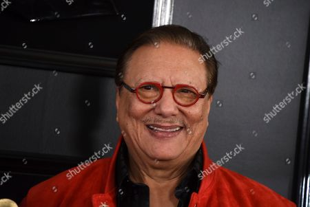 Arturo Sandoval arrives at the 61st annual Grammy Awards at the Staples Center, in Los Angeles