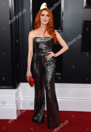 Stock Image of Bonnie McKee arrives at the 61st annual Grammy Awards at the Staples Center, in Los Angeles