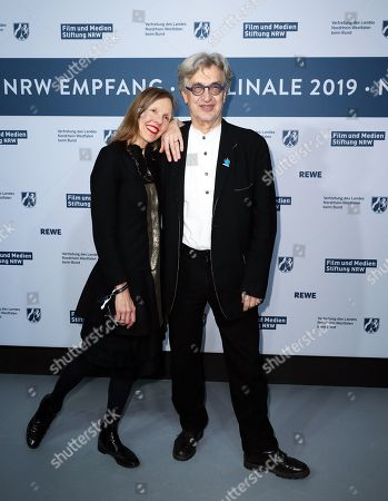 Wim Wenders (R) and his wife Donata Wenders (L) attend the North Rhine-Westphalia Film and Media Foundation Party during the 69th annual Berlin Film Festival, in Berlin, Germany, 10 February 2019. The Berlinale runs from 07 to 17 February.
