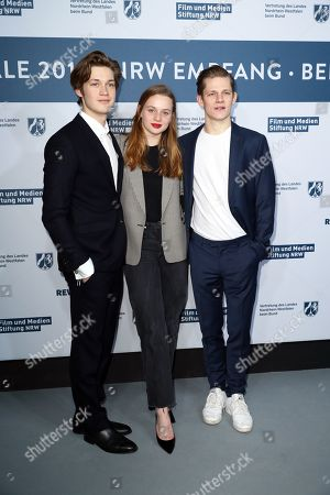Damian Hardung, Luna Wedler and Max von der Groeben attend the North Rhine-Westphalia Film and Media Foundation Party during the 69th annual Berlin Film Festival, in Berlin, Germany, 10 February 2019. The Berlinale runs from 07 to 17 February.