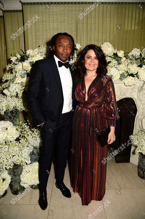 Freddie Achom and Daniella Helayel