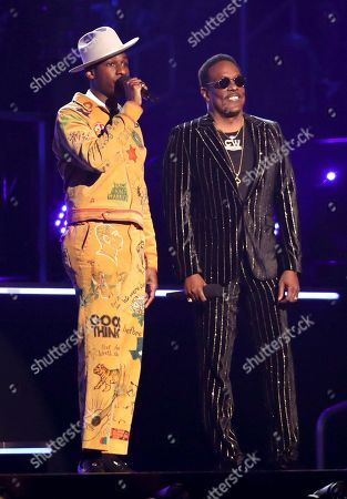 Leon Bridges, Charlie Wilson. Leon Bridges, left, and Charlie Wilson introduce a performance at the 61st annual Grammy Awards, in Los Angeles