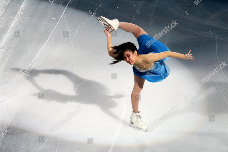 Mai Mihara of Japan skates during her exhibition program in the Four Continents Figure Skating Championships at the Honda Center in Anaheim, California, United States, 10 February 2019.