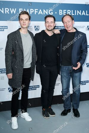 Ulrich Noethen, Christian Schwochow and Tom Gronau attend the North Rhine-Westphalia Film and Media Foundation Party during the 69th annual Berlin Film Festival, in Berlin, Germany, 10 February 2019. The Berlinale runs from 07 to 17 February.