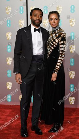 Chiwetel Ejiofor and Australian- Ghanaian model Frances Aaternir attend the 72nd annual British Academy Film Awards at the Royal Albert Hall in London, Britain, 10 February 2019. The ceremony is hosted by the British Academy of Film and Television Arts (BAFTA).